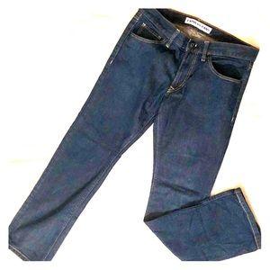 EXPRESS men's dark denim jeans pants slim straight